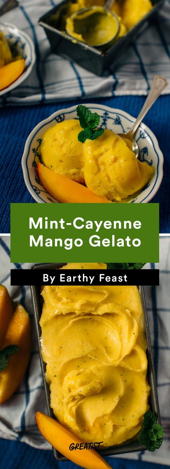 no dairy dessert: Mango Gelato