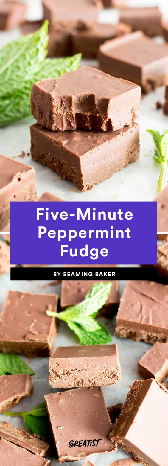Five-Minute Peppermint Fudge