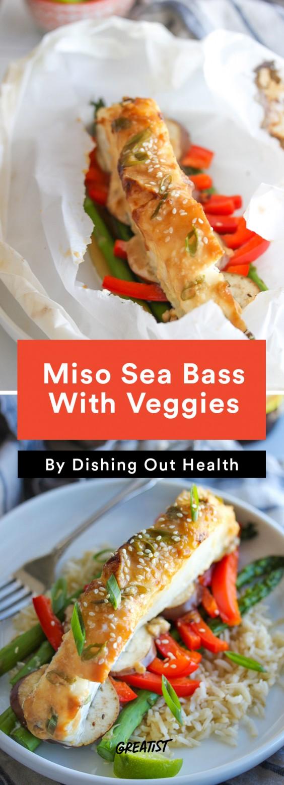 Miso Sea Bass En Papillote Recipe