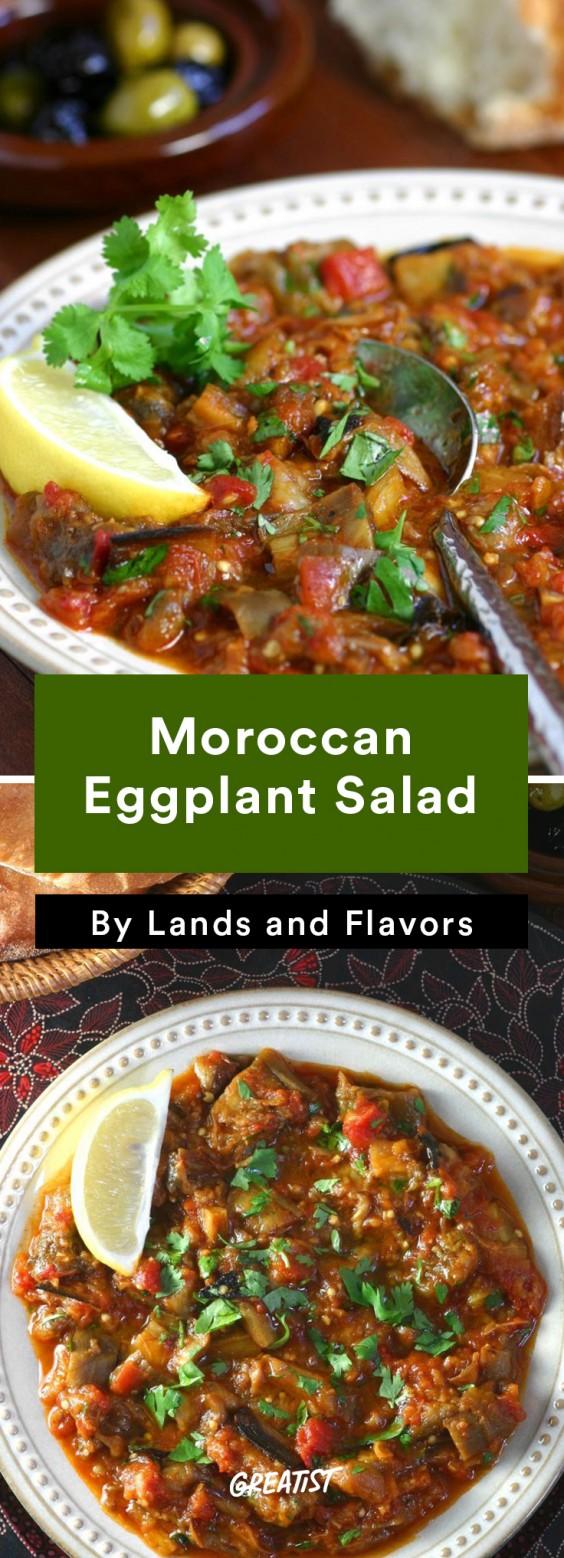 warm salads: Moroccan Eggplant Salad