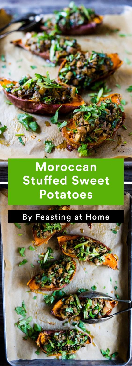 Fall Food Trends: Moroccan Stuffed Sweet Potatoes