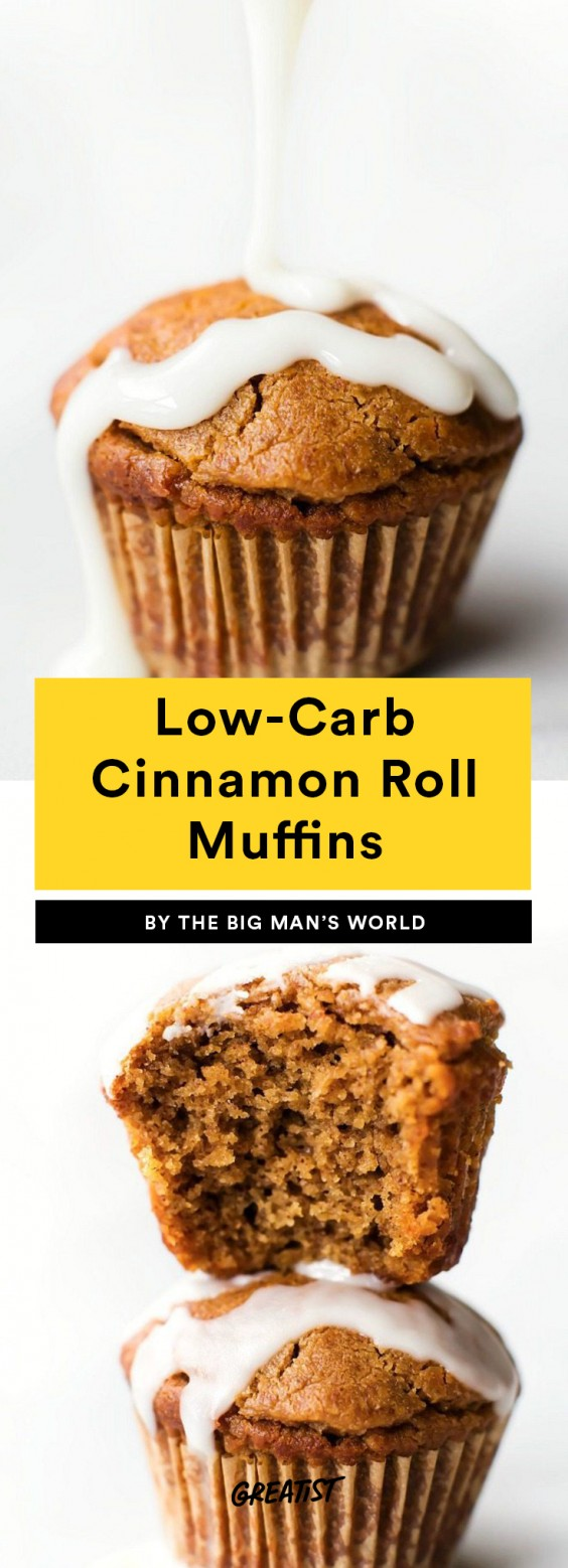 Low-Carb Cinnamon Roll Muffins