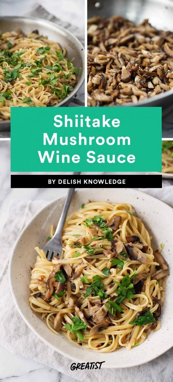 Shiitake Mushroom Wine Sauce