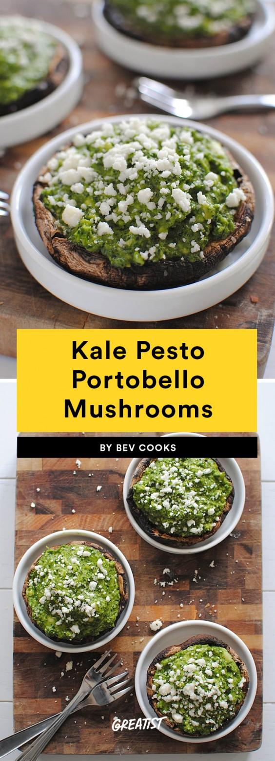 Kale Pesto Portobello Mushrooms