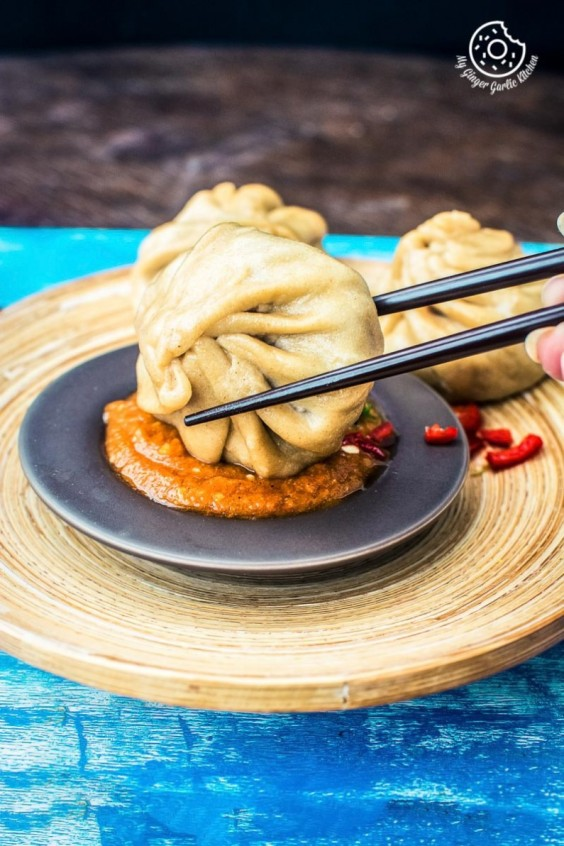 1. Nepalese Whole-Wheat Steamed Veg Momos