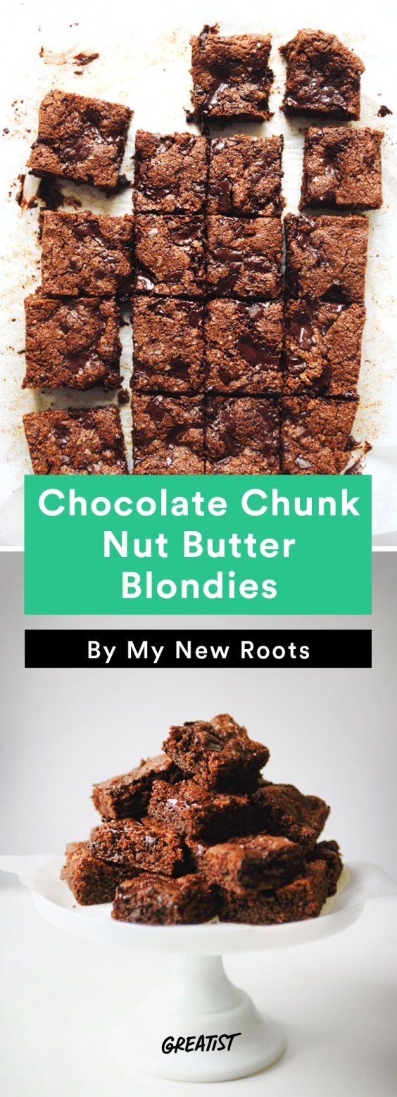 no dairy dessert: Nut Butter Blondies