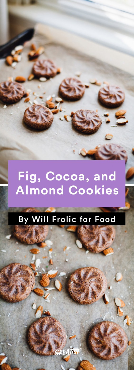 no dairy dessert: Fig, Cocoa, and Almond Cookies