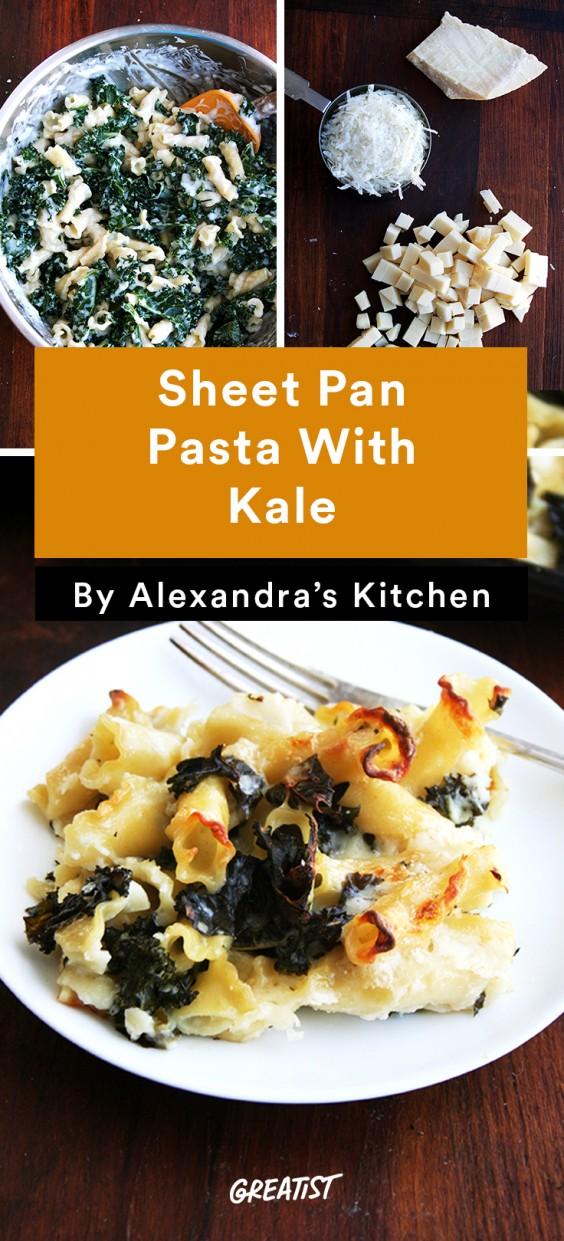 alexandra's kitchen: Sheet Pan Pasta With Kale