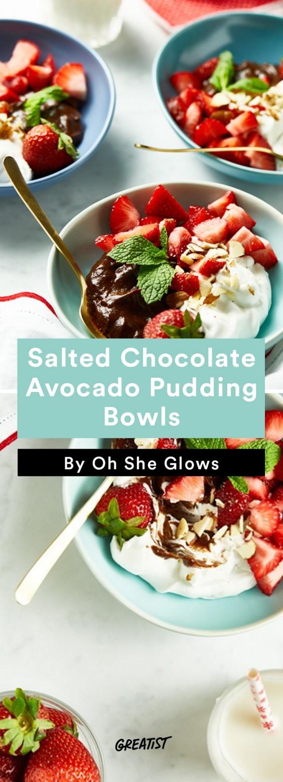 oh she glows bowl: Avocado Pudding Bowls