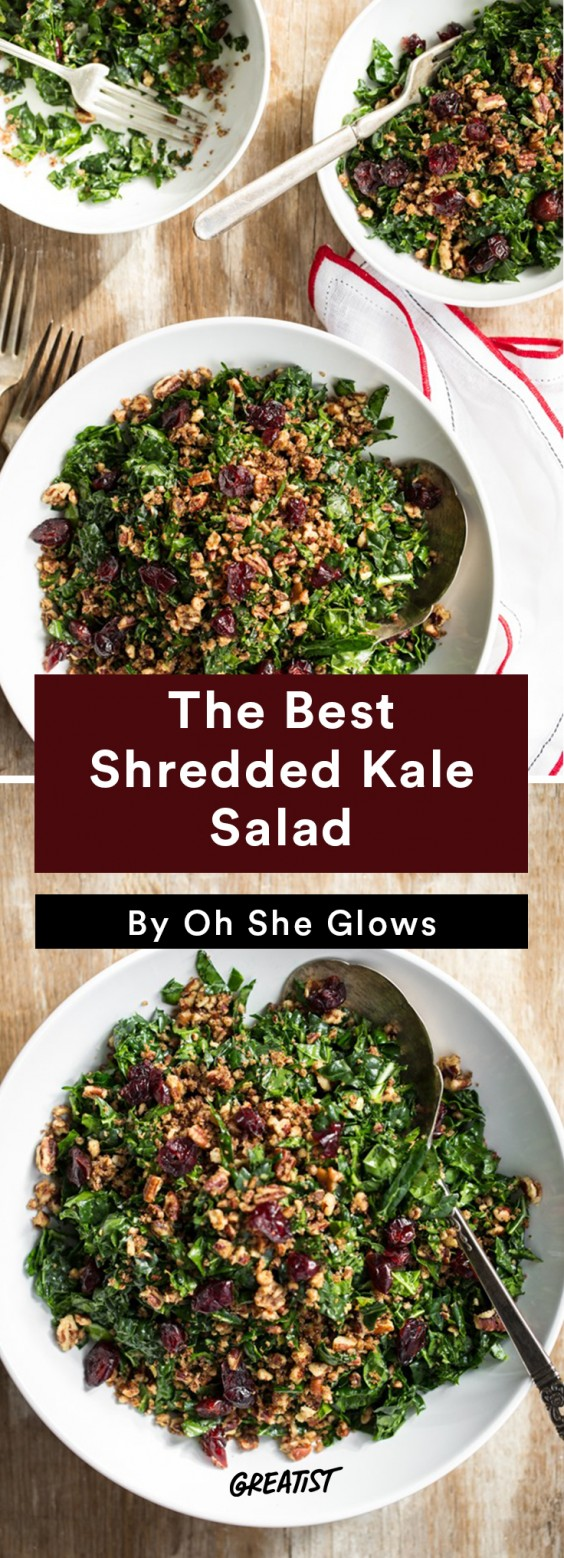 oh she glows bowl: Kale Salad