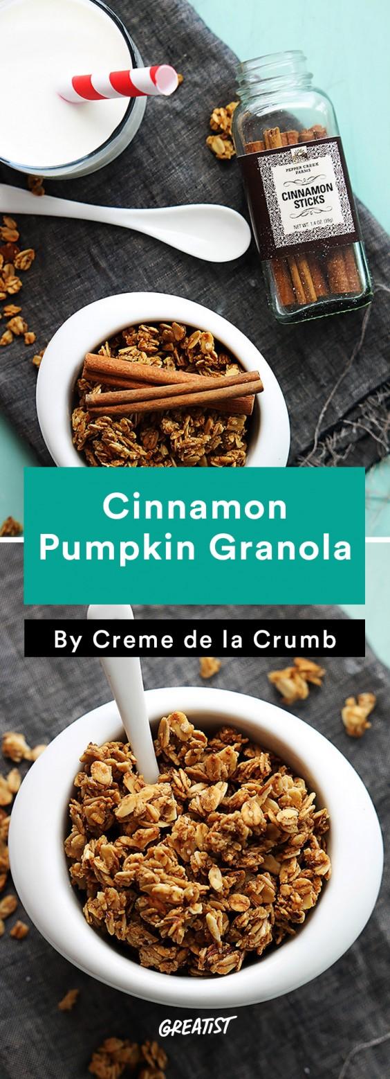 Fall Food Trends: Cinnamon Pumpkin Granola