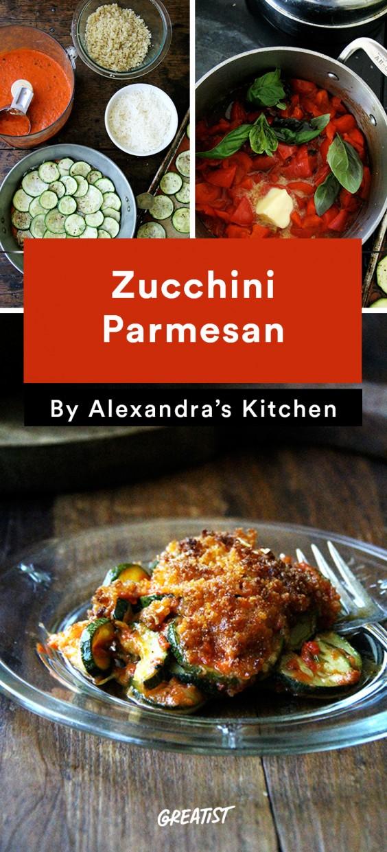 alexandra's kitchen: Zucchini Parmesan