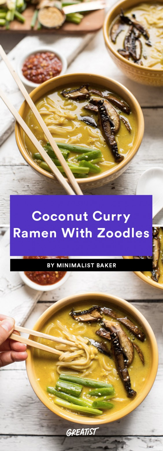 coconut curry ramen with zoodles