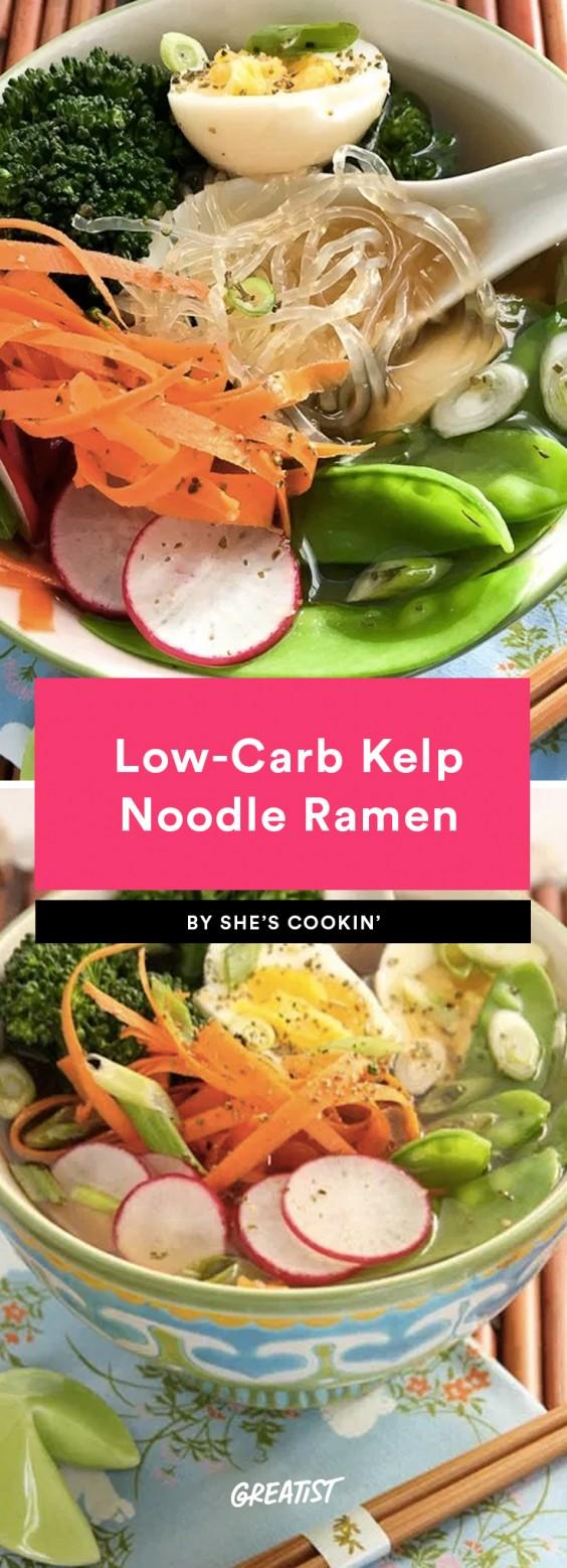low-carb kelp noodle ramen