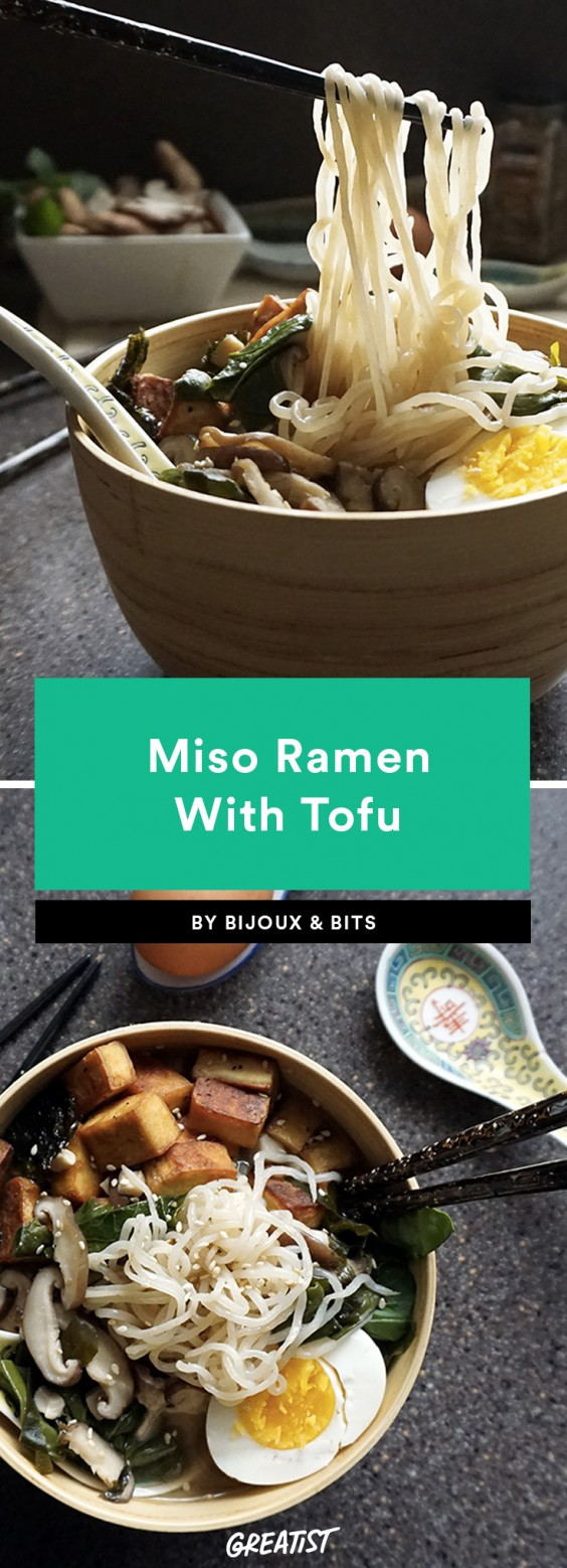 miso ramen with tofu