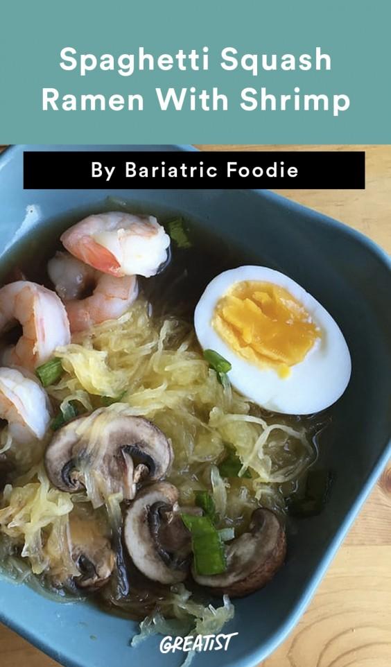 Spaghetti Squash Ramen With Shrimp