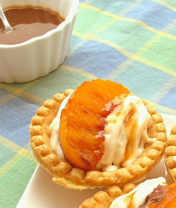 Nectarine Tart With Vanilla-Orange Syrup