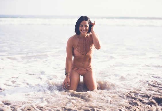Neghar Fonooni on the Beach