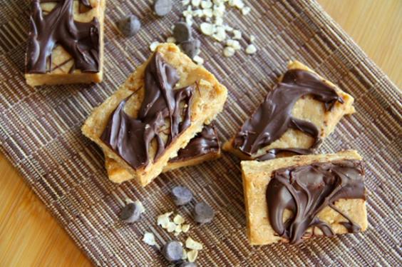 No Bake Almond Fudge Protein Bars