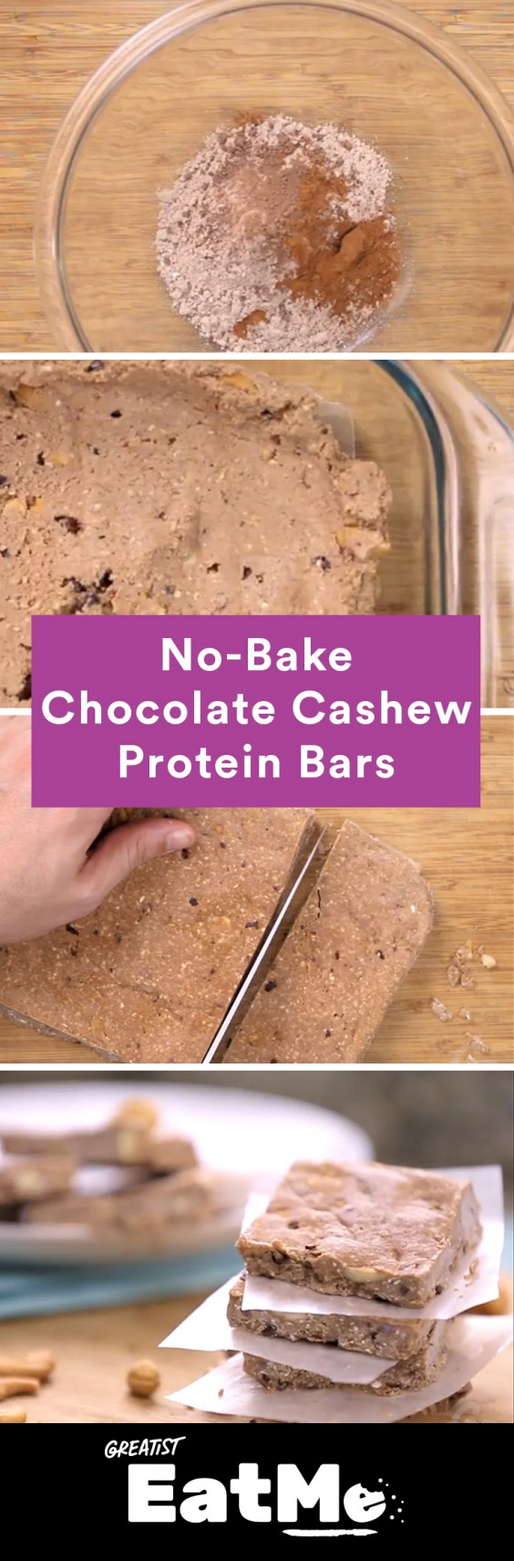 Eat Me Video: Chocolate Cashew Protein Bars