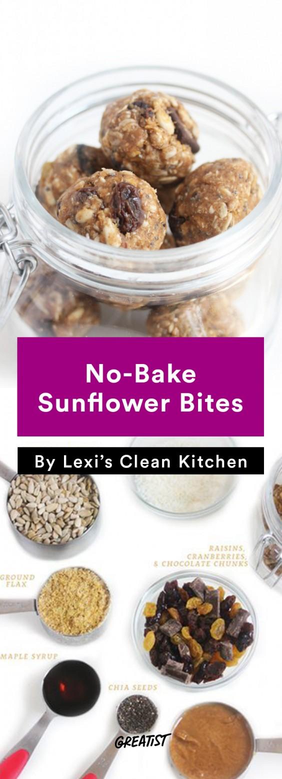 Lexi's Clean Kitchen No-Bake Sunflower Bites