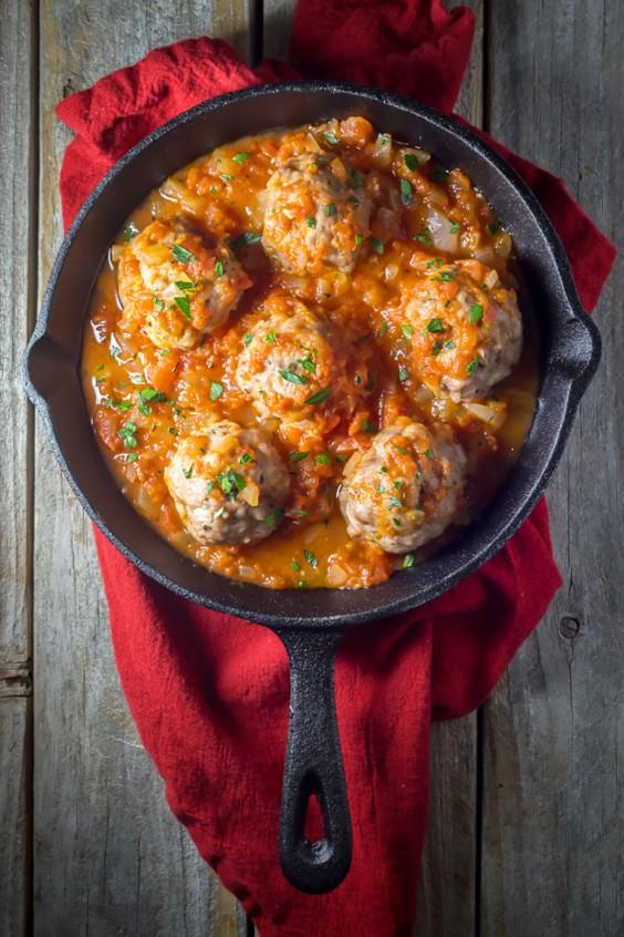 Paleo Dinners: Oven Baked Italian Meatballs with Marinara Sauce