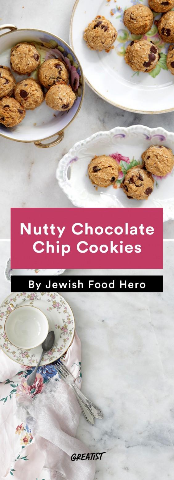 jewish food hero: Nutty Chocolate Chip Cookies