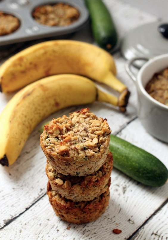 Healthy breakfast ideas 34 simple meals for busy mornings greatist 35 banana zucchini oatmeal cups forumfinder Gallery