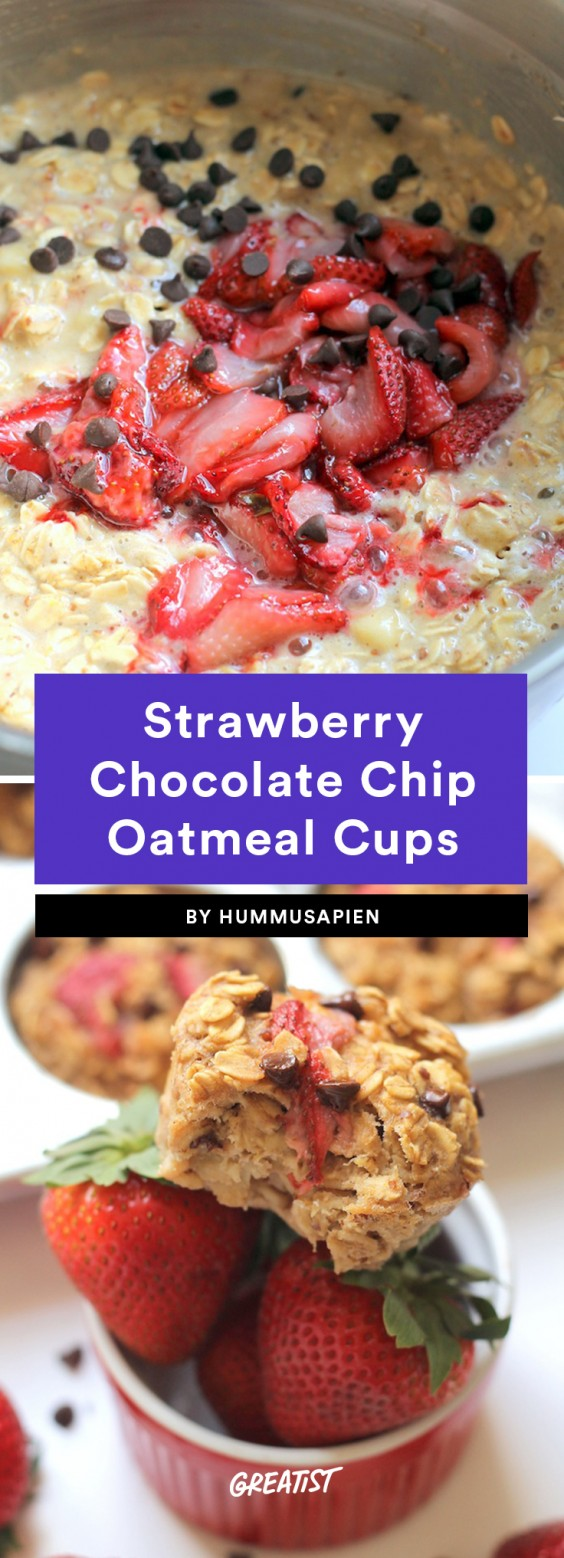 Strawberry Chocolate Chip Oatmeal Cups Recipe