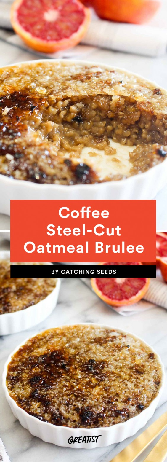 Coffee Steel Cut Oatmeal Brulee