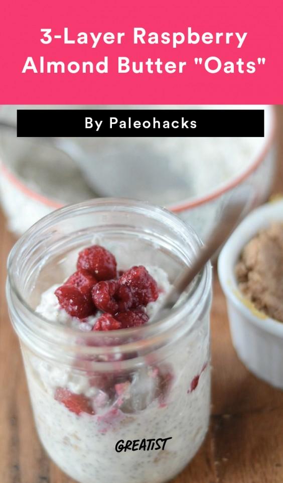 3-Layer Raspberry Almond Butter Oats