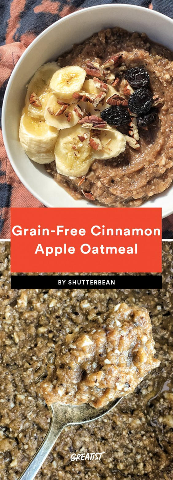 Grain-Free Apple Cinnamon Oatmeal