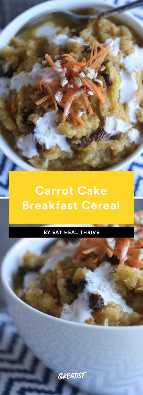 Carrot Cake Breakfast Cereal
