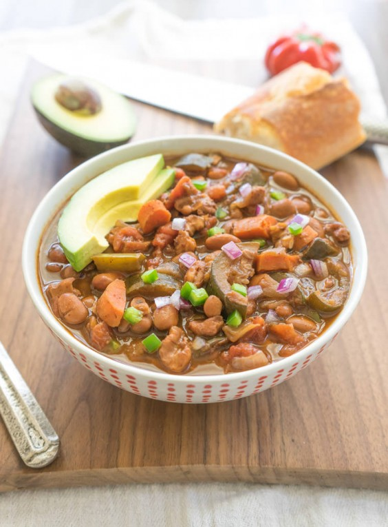 19. The Heartiest Slow Cooker Vegetarian Chili