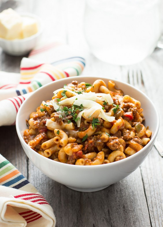 Ground Beef Recipes: One Pot Chili Mac
