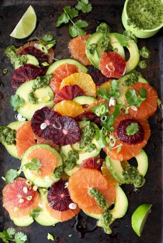Orange Avocado Salad With Lime Dressing