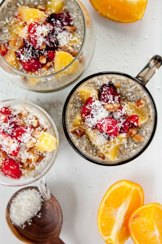 Orange Creamsicle Chia Seed Pudding