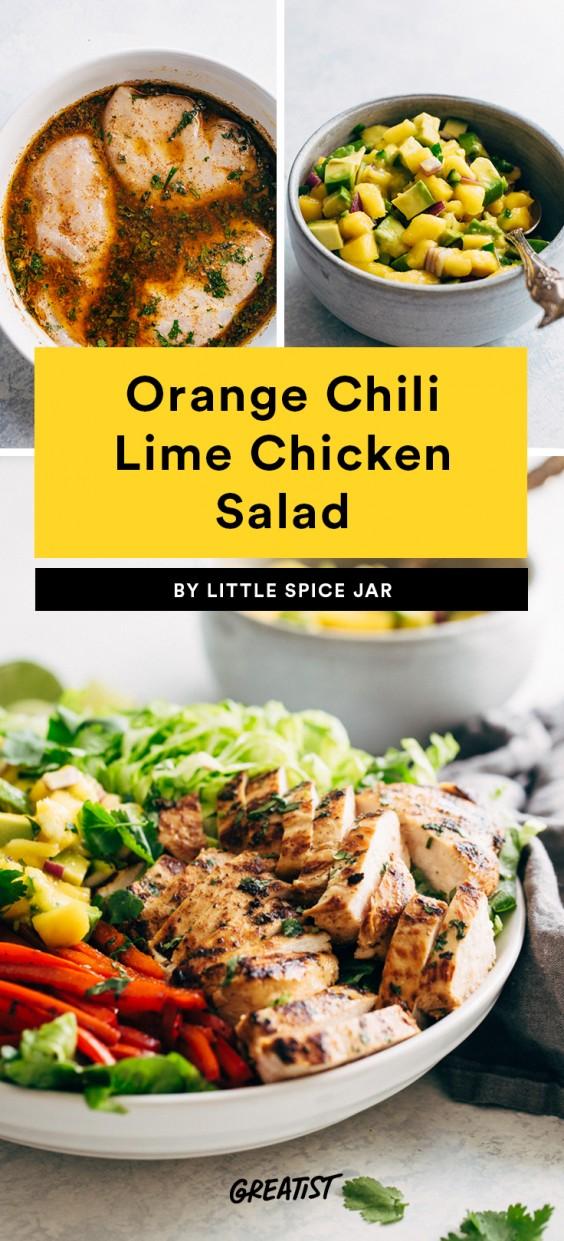Orange Chili Lime Chicken Salad Recipe
