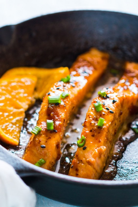 Stovetop mistakes: Orange Mustard Salmon