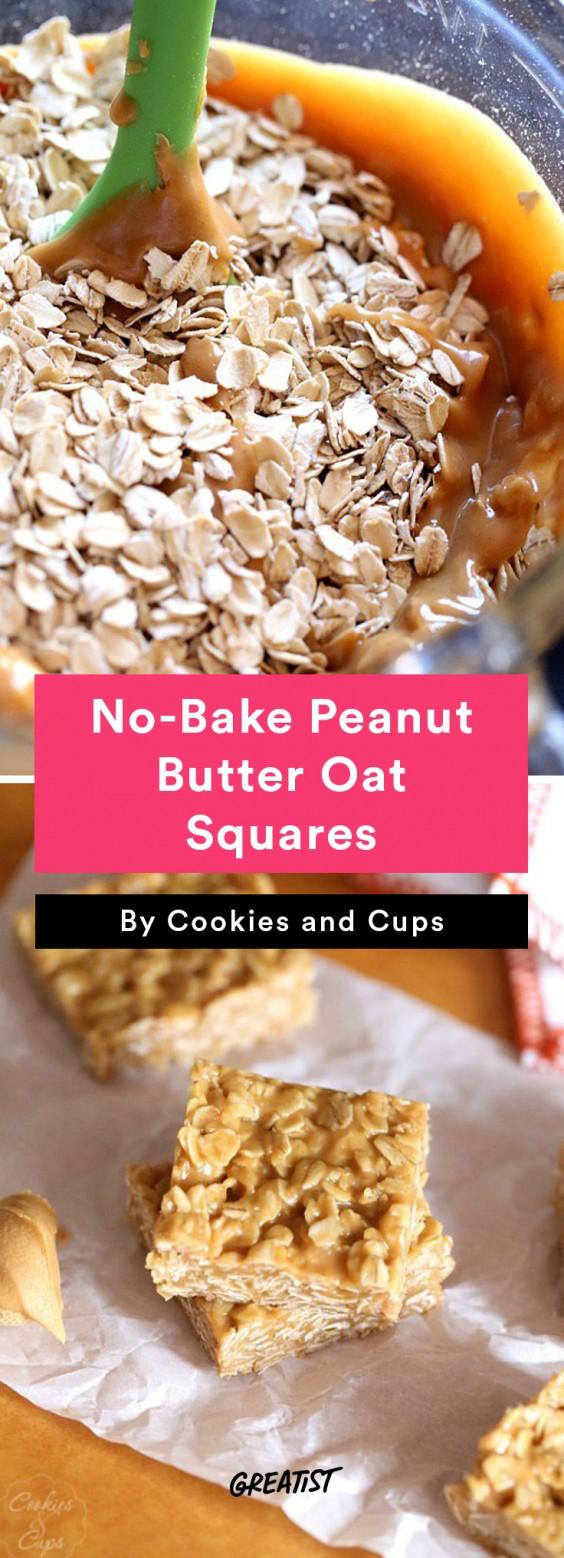 No-Bake Peanut Butter Oat Squares Recipe