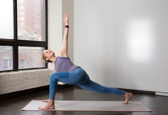 Low Lunge With Open Twist