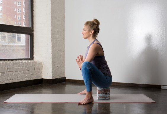 Yoga Squat With Blocks