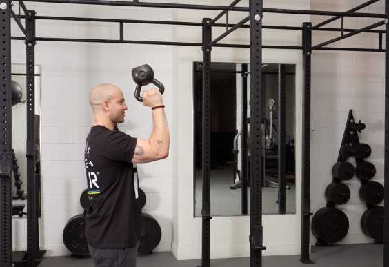 Upper Body Moves When You Can't Do A Pull-Up - Kettlebell Bottom Up Press
