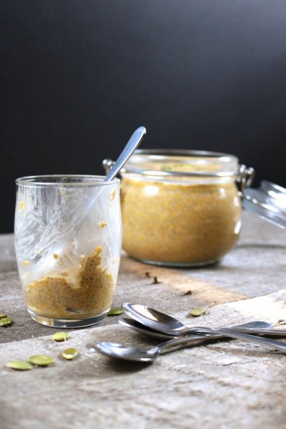 Pumpkin Spice Latte Chia Pudding