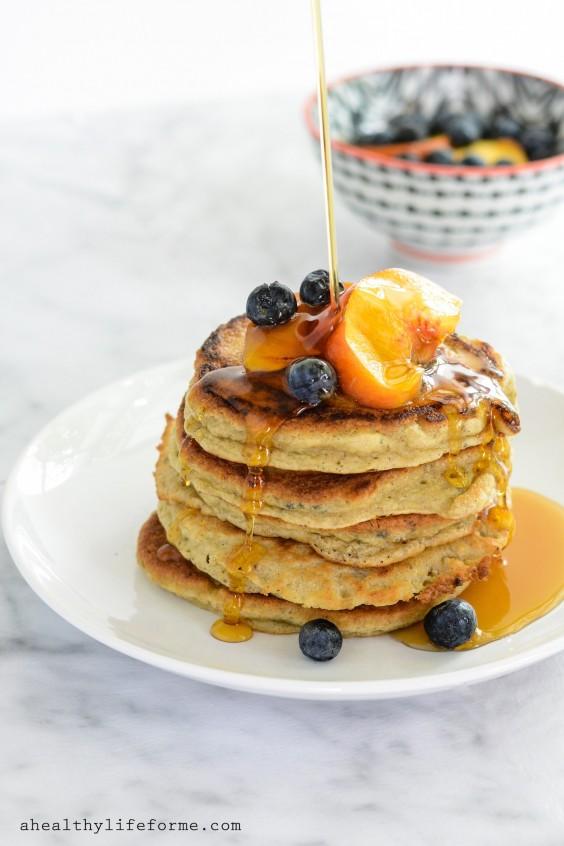 Overripe Fruit: Peach Pancakes