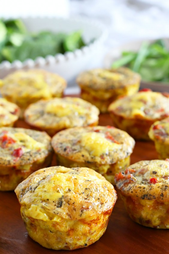 Whole30 Lunches: Sausage Pizza Egg Muffins