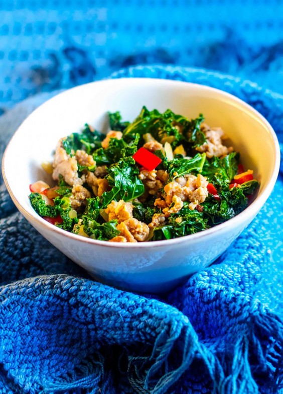 Whole30 Lunches: Sausage and Kale Saute