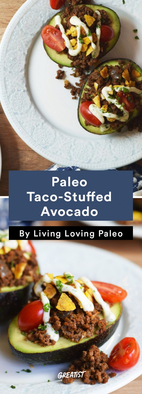 Stuffed Avocado: Paleo Taco