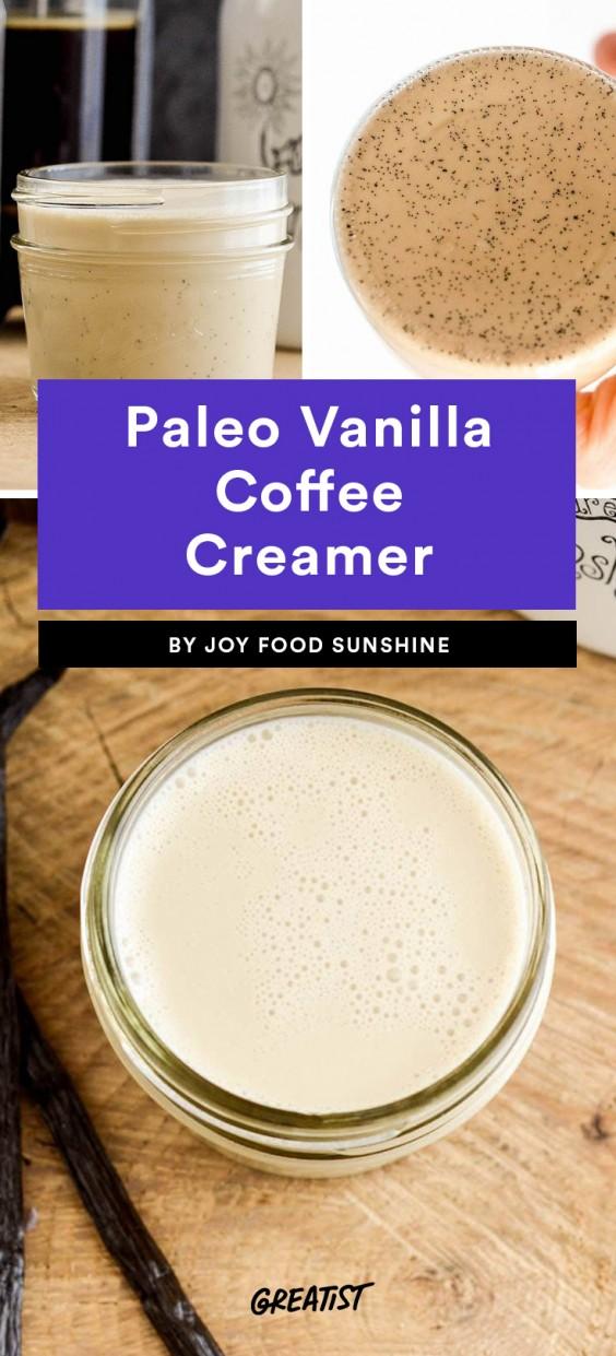 Paleo Vanilla Coffee Creamer