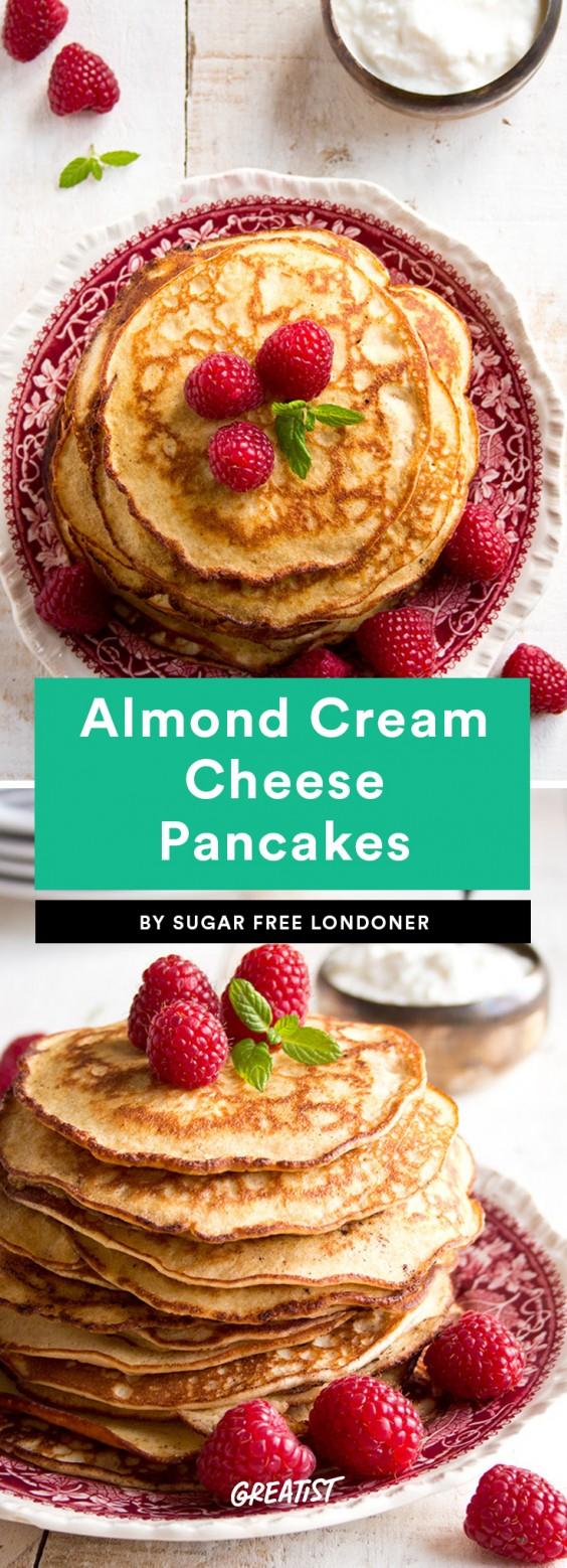 Almond Cream Cheese Pancakes